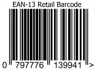 ean-13 retail barcode image from buy barcodes uk
